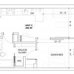 2-dimensional illustration of floor plan C