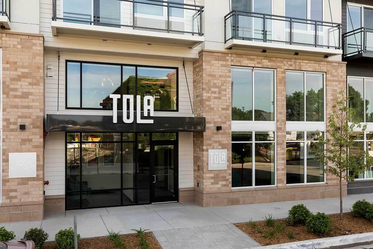 Exterior of Tula apartment building in Uptown Minneapolis