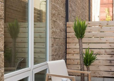 Photo of an outdoor living space with modern decor