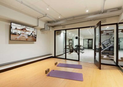 Photo of a fitness and yoga studio