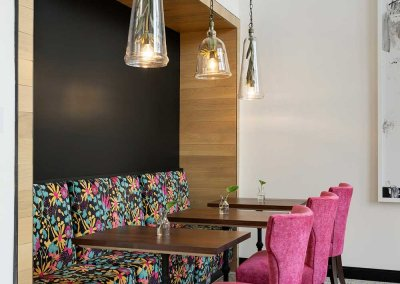 Photo of a gathering space with modern decor