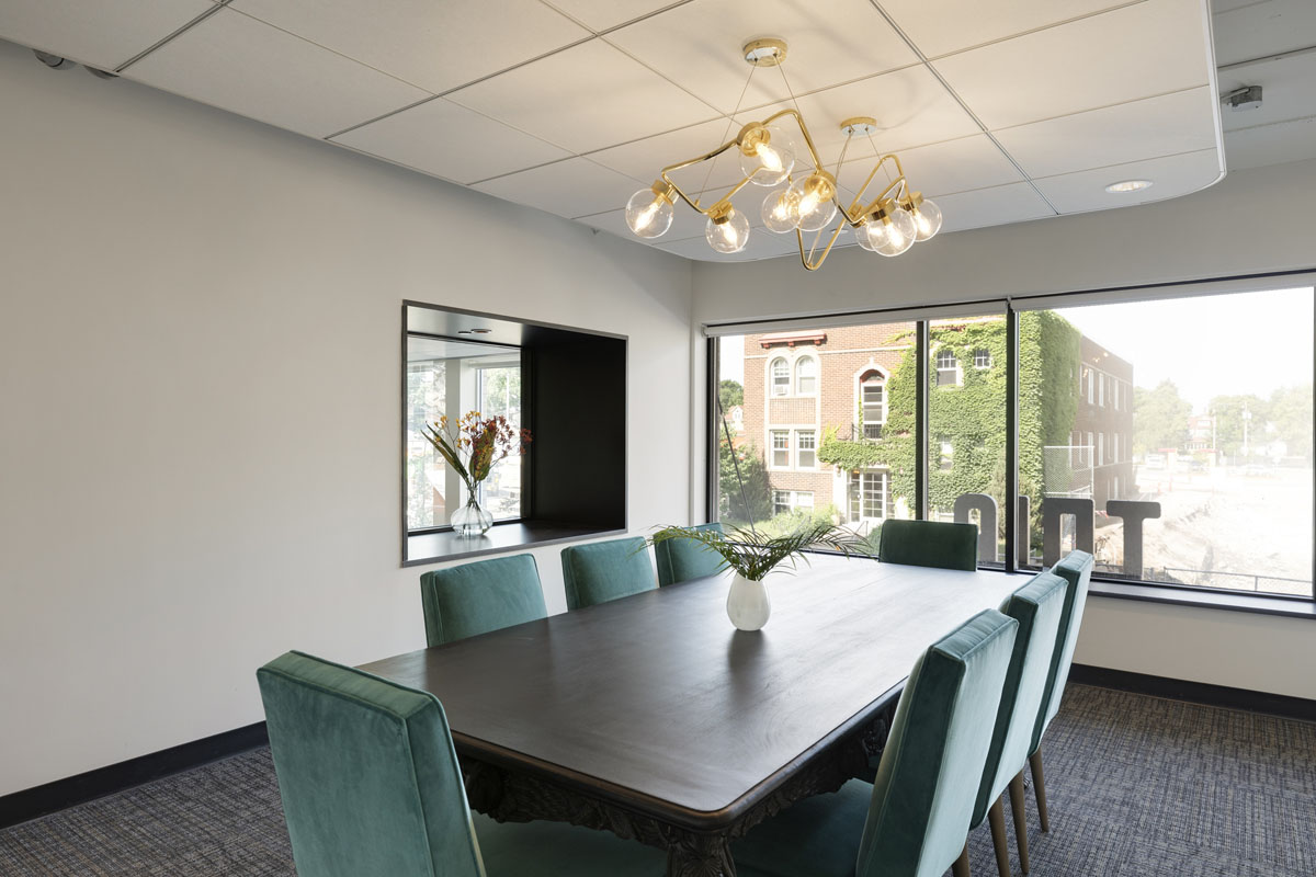 Conference room with modern decor