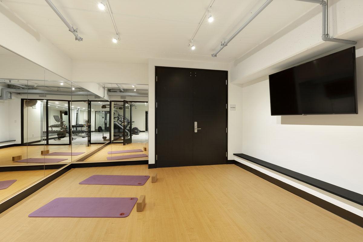 Fitness center yoga studio