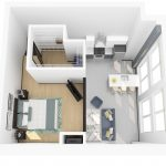 3D rendering of floor plan O (upper)