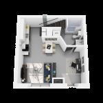 3D rendering of floor plan N (lower)