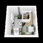 3D rendering of floor plan N (upper)