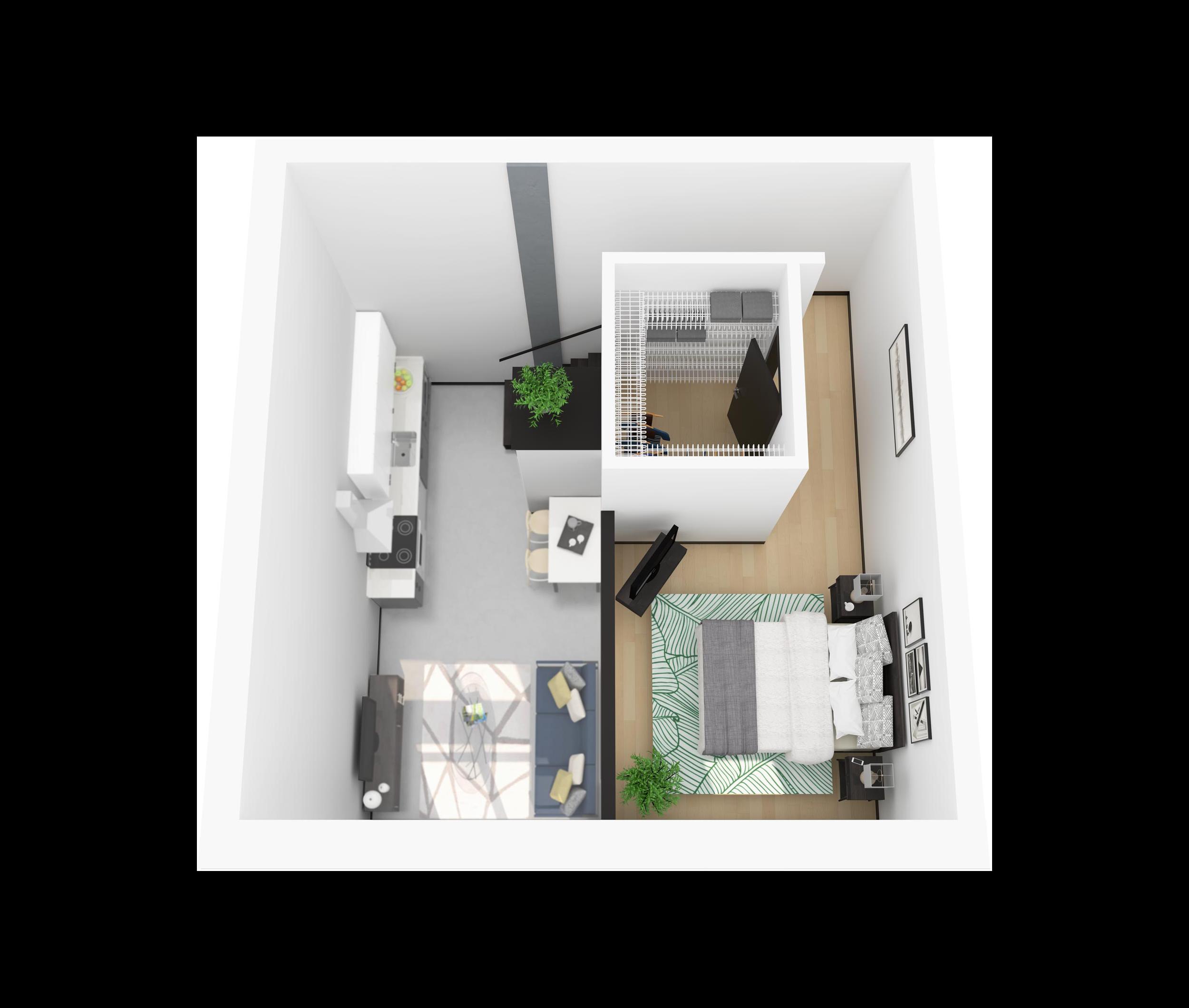 Floor Plan N – Loft Apartment