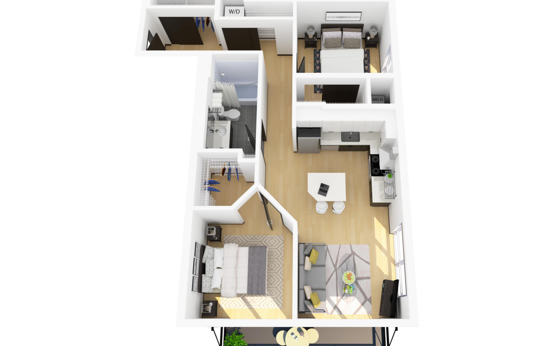 Floor Plan I – 2 Bedroom Apartment