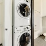 View of stacker washer-dryer