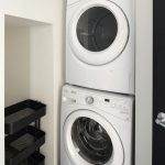 View of stacked washer-dryer